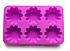 Силиконовая форма для выпечки в духовке (Кекс волна) розовая, фото 3