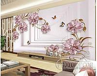 """Фотообои """"3d Цветы и бабочки 1"""", фото 1"""