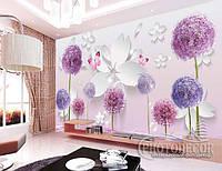 """Фотообои """"3D Цветы и бабочки 3"""", фото 1"""