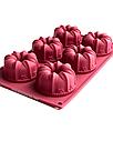 Силиконовая форма для выпечки в духовке (Куличи) бордовая, фото 2
