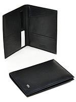 Обложка для паспорта кожаная черная