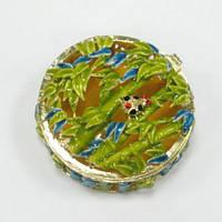 Шкатулка круглая для украшений Бамбук