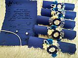 Именные пригласительные на свадьбу Monogram (синие), фото 5