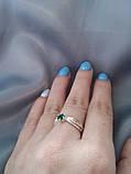 Кольцо серебро с золотом Колибри, фото 2