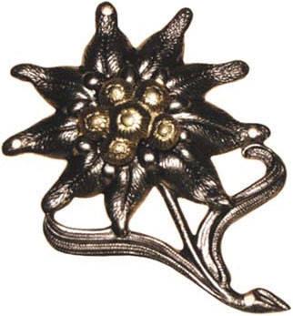 Значок металлический на берет Бундесвера «Эдельвейс» 36047, фото 2