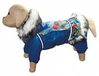 """Комбинезон для собак на силиконе """"Джинс"""" (девочка) подкладка нейлон / Размер М"""