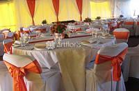 Текстильное оформление, драпировка потолка, стен, украшение тканями лестниц, беседки, свадебное оформление тента