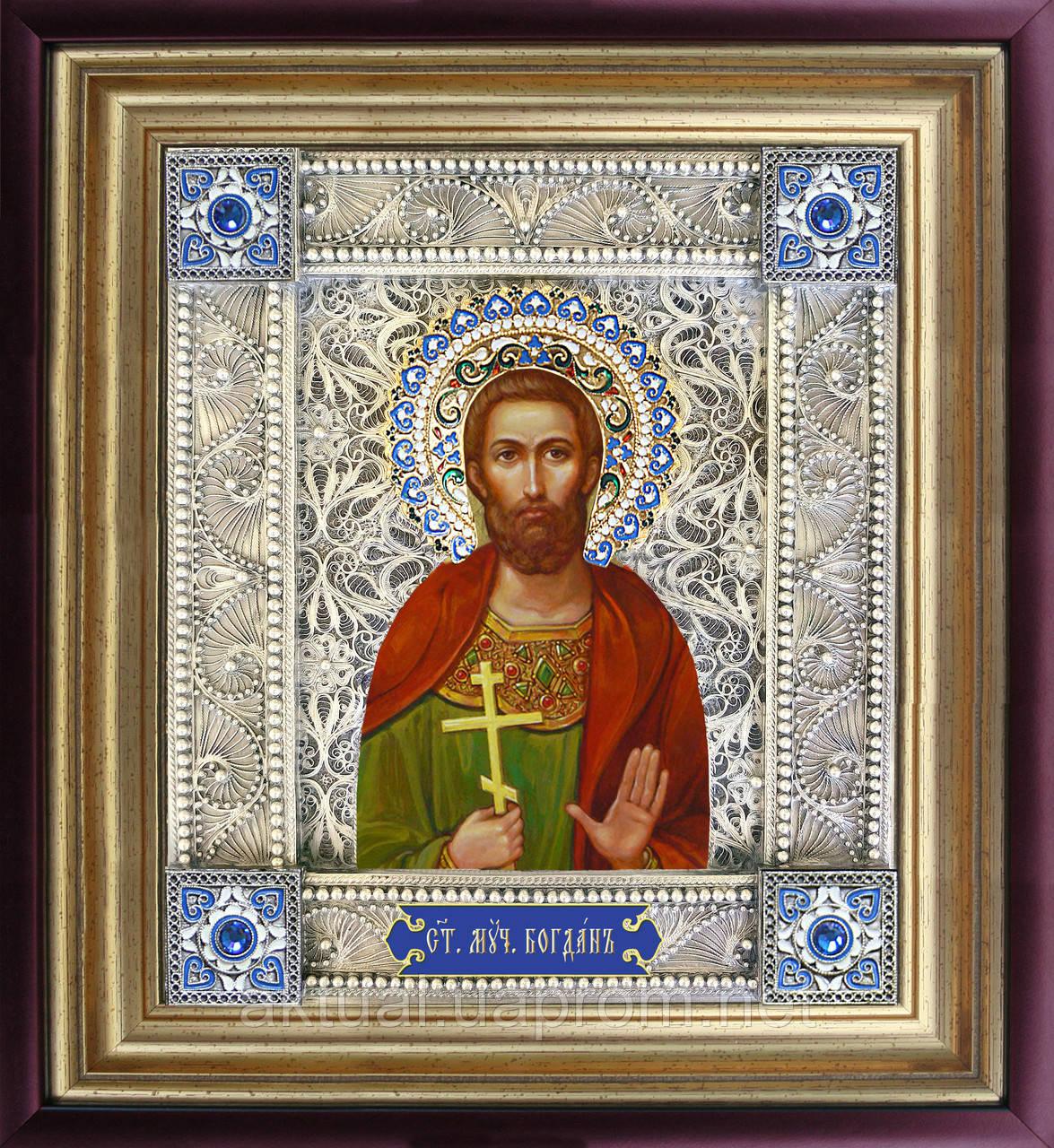 Икона святой Богдан скань
