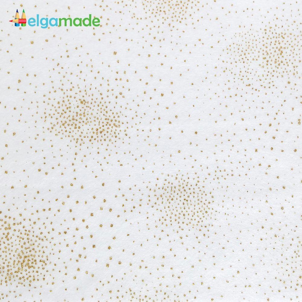 Фетр мягкий с напылением БЕЛЫЙ, 15x23 см, 1.3 мм, США