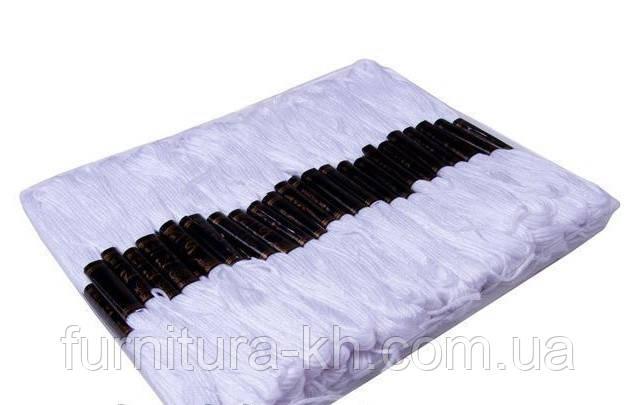 Нитки Мулине 100 шт. цвет белый