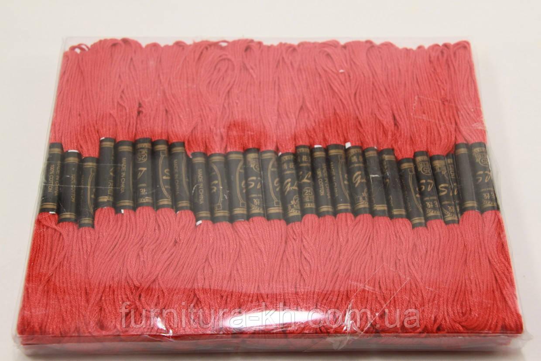 Нитки Мулине 100 шт. цвет красный