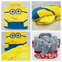 Плед игрушка подушка  желтый Миньон Міньйон подарок для детей 3 в 1