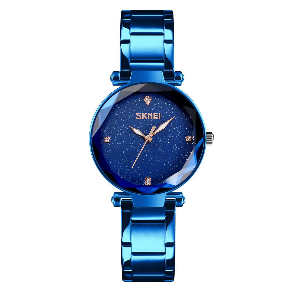 Skmei 9180  miss синие женские классические часы