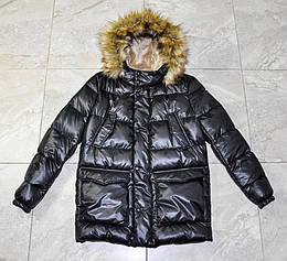 Куртка зимняя на лебяжьем пуху Морис черного цвета для мальчика, NUI VERY