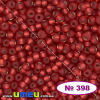Бисер чешский №398/97070, Красный, Блестящий матовый, 10/0 (BIS-013261)