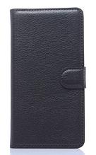 Кожаный чехол-книжка для Samsung Galaxy A3 A310 черный