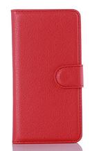 Кожаный чехол-книжка для Samsung Galaxy A3 A310 красный