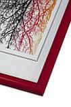 Рамка 10х10 из пластика - Красный яркий - со стеклом, фото 2