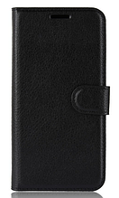 Кожаный чехол-книжка для Samsung Galaxy A6 2018 A600F черный