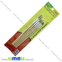 Набор кистей из натурального волоса Белка 6 шт TIKI, 1 набор (INS-021691)