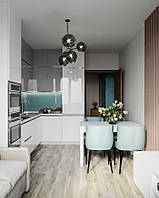 Кухня белая глянцевая, верх серый глянец. Новинка