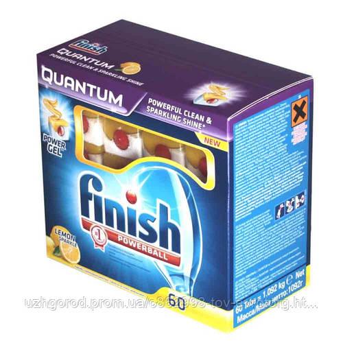 Таблетки FINISH Quantum для посудомоечных машин 60 шт