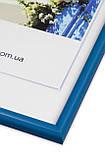 Рамка 10х10 из пластика - Синий яркий - со стеклом, фото 2