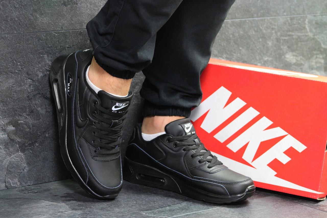 edb4af0c Мужские Спортивные Кроссовки в Стиле Nike Air Max 90 , Черные — в ...