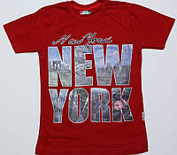 """Футболка подросток красная """"New York"""" размер 9-10"""
