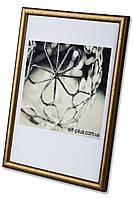 Рамка 10х10 из пластика - Золото - со стеклом, фото 1