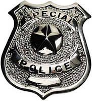 "Металлический значок США ""Special police"" серебристый 36413A"