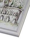 Рамка 10х10 из пластика - Белая - со стеклом, фото 2