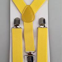 Подтяжки для ребенка желтые