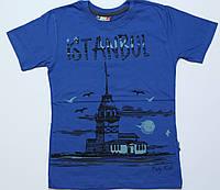 "Футболка для мальчика подросток синяя ""istanbul"", размер 9-10,10-11"
