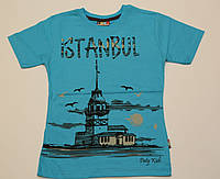 "Футболка подросток голубая ""istanbul"", размер 9-13"