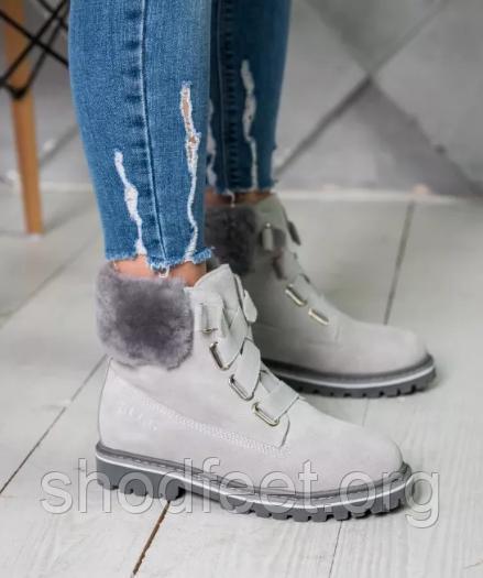 Ботинки UGG D&K Sheepskin Grey