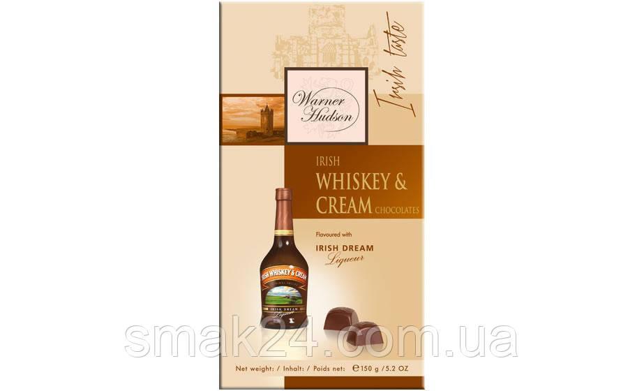 Шоколадні цукерки з віскі Warner Hudson Irish Whiskey &Crem Liqueur (Ірландське віскі і вершки) Німеччина 150г