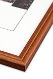 Рамка 10х10 из дерева - Дуб коричневый 1,5 см - со стеклом, фото 2