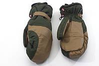 Перчатки Kombi PARADISO WG, зелёные с коричневым, кожзаменитель, размер S
