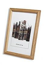 Рамка 10х10 из дерева - Дуб светлый 2,2 см - со стеклом