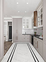 Кухня в стиле современная классика фасады с фрезеровкой