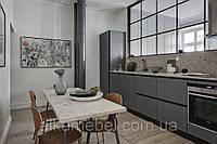 Кухня без ручек без верхних тумб. фурнитура blum, фото 1