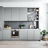 Кухня в серых тонах Лофт стиль Blum furniture, фото 1