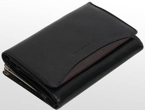 Изысканный женский кожаный кошелек VIP COLLECTION (Вип Колекшн). Артикул 89A PR черный
