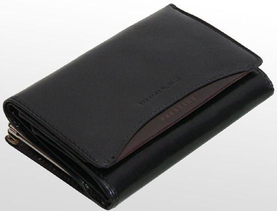 Жіночий шкіряний гаманець VIP COLLECTION чорний