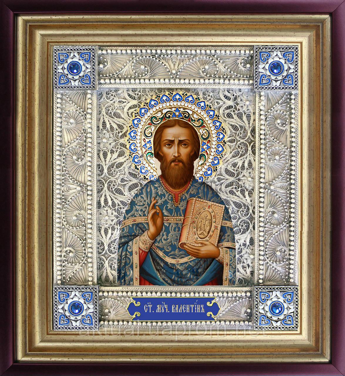 Святой Валентин скань икона