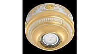 Латунный потолочный накладной светильник ROMA, светлое золото - белая патина
