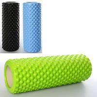 Валик (ролик, роллер) массажный для спины и йоги MS 2469 EVA (33см*13см))
