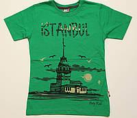 "Футболка подросток зеленая ""Istanbul"", размер 9-13"