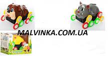 Перевертыш арт 320  животное Котик ,  Собачка 12 см,на бат-ке, в кор-ке, 12,5-10,5-9 см
